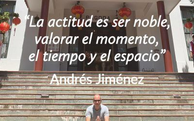 La actitud es ser noble, valorar el momento, el tiempo y el espacio.