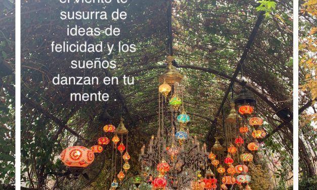 Escucha como el viento te susurra ideas de felicidad y sueños danzan en tu mente.